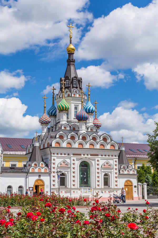 The Church of the mother of God & x22;Assuage My Sorrows& x22; in Saratov. The construction was completed in 1906. Russia. On a Sunny summer day royalty free stock photography