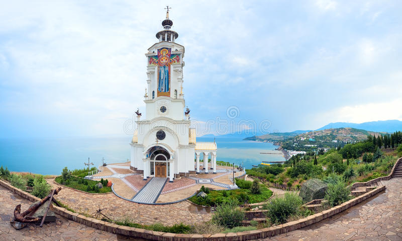 Church - Museum of accidents on water (Crimea). Church - Beacon of St. Nicholas Myra. (The Museum of accidents on water). (Malorechenskoye village, near Alushta royalty free stock photos