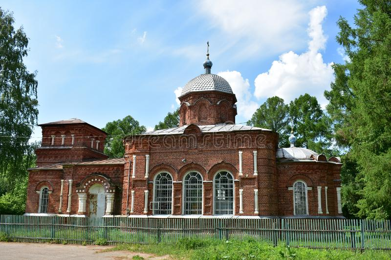Church in the name of St. Nicholas the Wonderworker of the Russian Orthodox old believer Church. An old village of Chernopolye, the whole of the Volga is royalty free stock photography