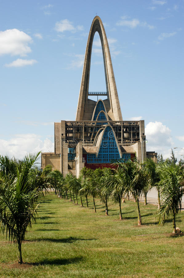 Church named Shrine of Our Lady of Altagracia in Higuey. On Dominican Republic royalty free stock photo