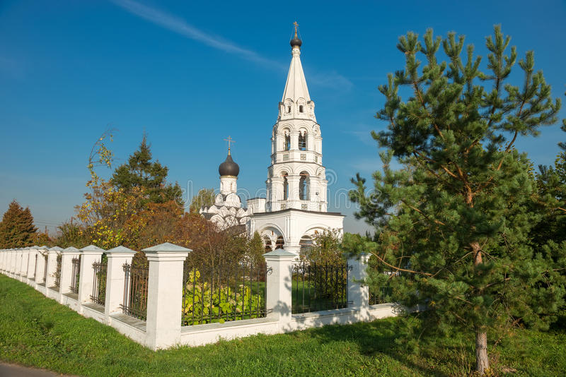 Church of the Nativity of the Blessed Virgin (1664). Church of the Nativity of the Blessed Virgin in Poyarkovo (1664), Moscow region stock photography
