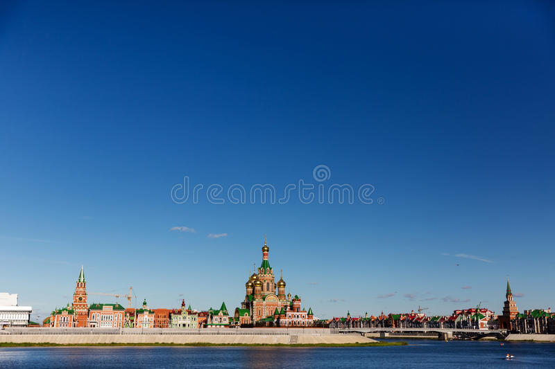 Church of the Nativity of the Blessed Virgin in Yoshkar-Ola. Russia royalty free stock images