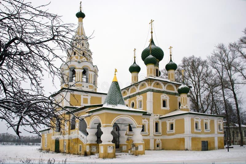 Church of the Nativity of John Baptist in Winter royalty free stock image