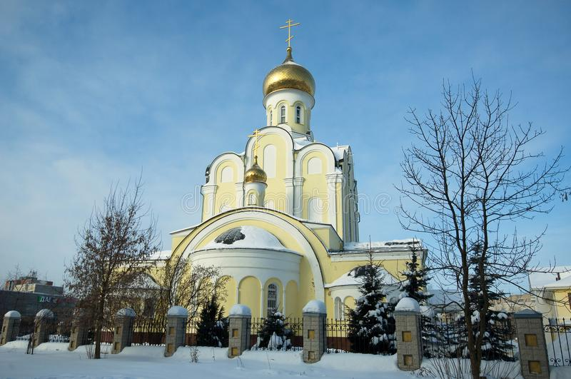 The Church of the Nativity in Obninsk royalty free stock photo
