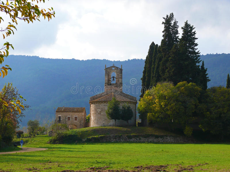 Download Church near Banyoles stock image. Image of country, stone - 20088151