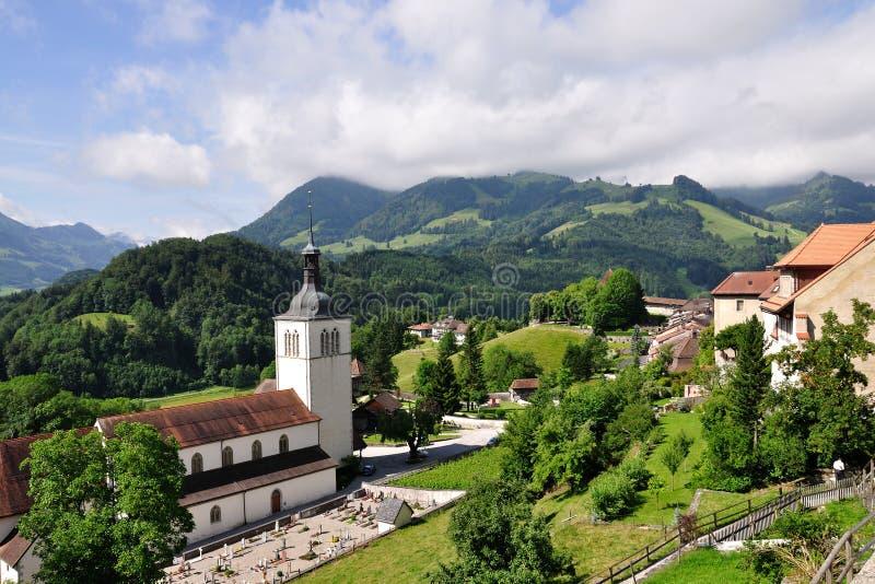 Church near Gruyere castle, Switzerland