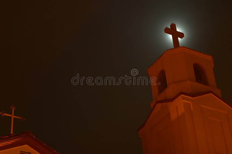 Download Church at Night stock image. Image of architecture, christian - 451565