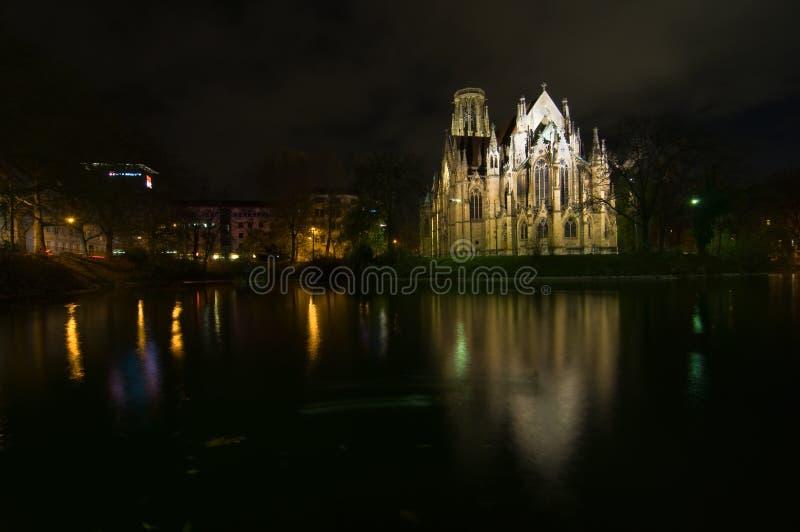 Church at night royalty free stock photo