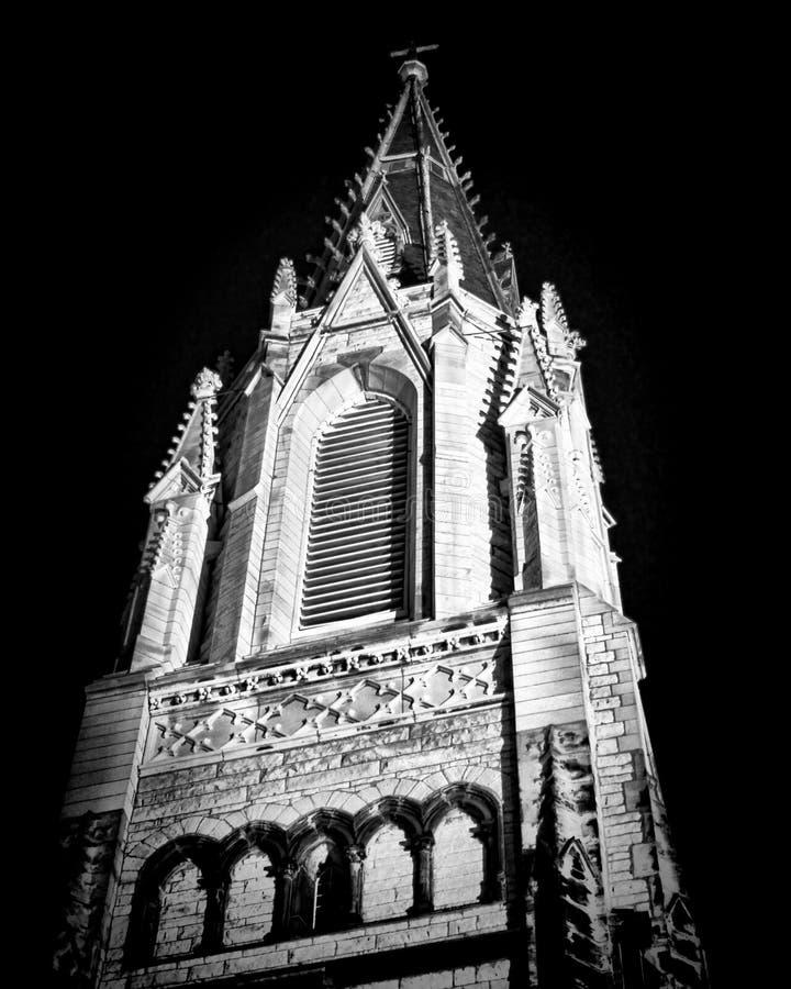 Church at Night stock photo