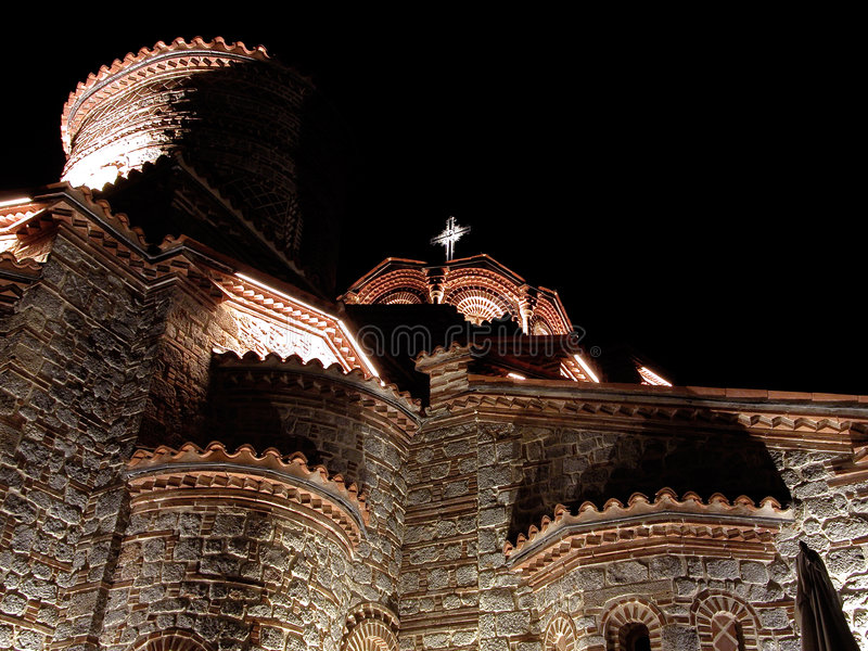 Download A church in nighttime stock photo. Image of macedonia, byzantine - 169932