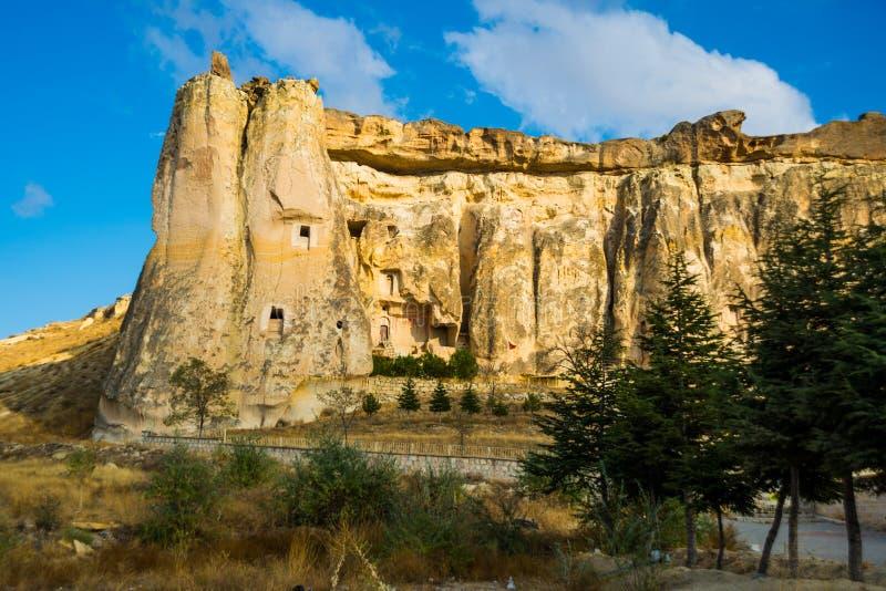 Church Nikifor Fokas, Nikeforos Fokas Kilisesi, also referred to as Pigeon, Guvercinlik, Cavusin Church. The ancient temple is. Located in the rock. Cappadocia royalty free stock image
