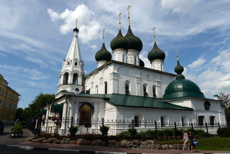 Church of Nikola Rublenogo built in 1695 in the historic center of Yaroslavl royalty free stock photo