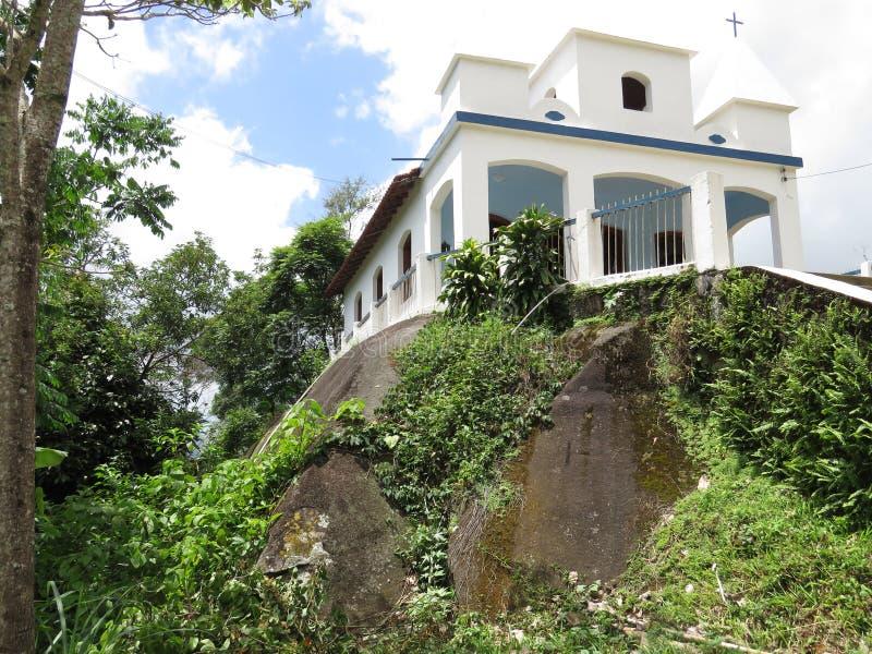 Church of Nossa Senhora da Penha - Paraty Paraty- Cunha. It is a church situated on a Big stone stock images