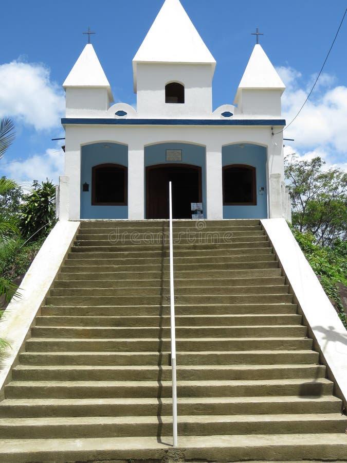 Church of Nossa Senhora da Penha - Paraty- Paraty- Cunha. It is a church situated on a Big stone stock image