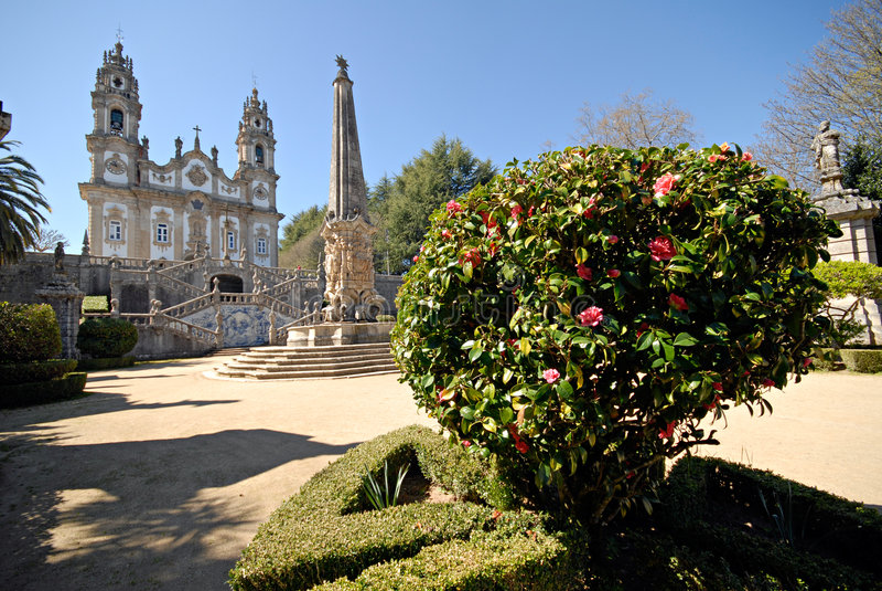 The Church of Nossa Senhora dos Remedios. royalty free stock photo