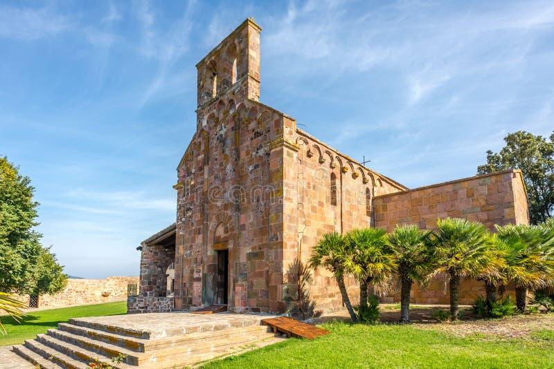 Church Nostra Signora di Castro near Oschiri stock images