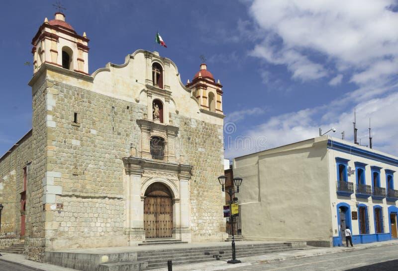 Church in Oaxaca stock photography