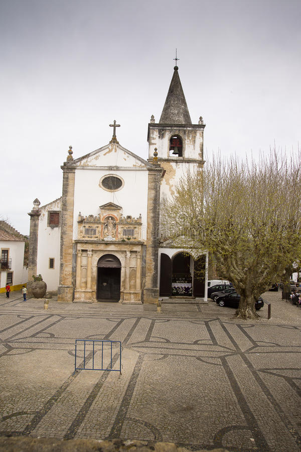 Church in Obidos Portugal stock photography