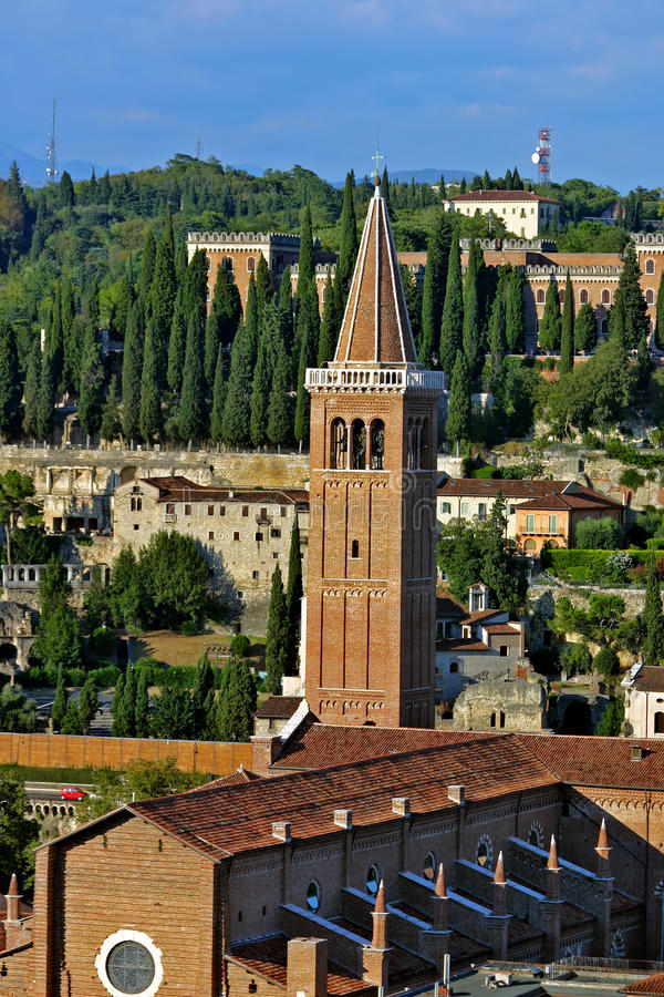 Free Church Of Santa Anastasia In Verona, Italy Royalty Free Stock Images - 10040509
