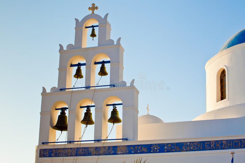 The church in Oia, Santorini royalty free stock images