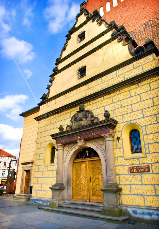 Church in Olesnica, Poland. Church in the city of Olesnica, Poland royalty free stock images