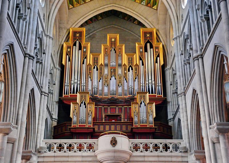 Church Organ royalty free stock image