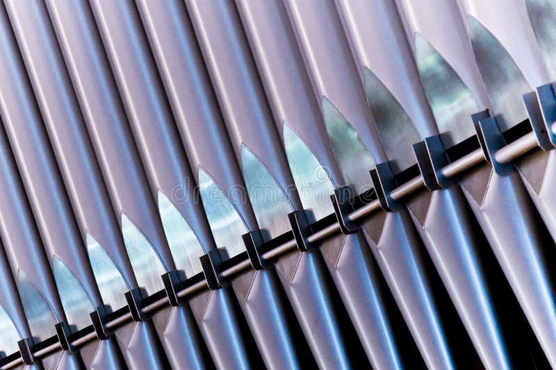 Church Organ Pipes. Waiting to be played stock photography