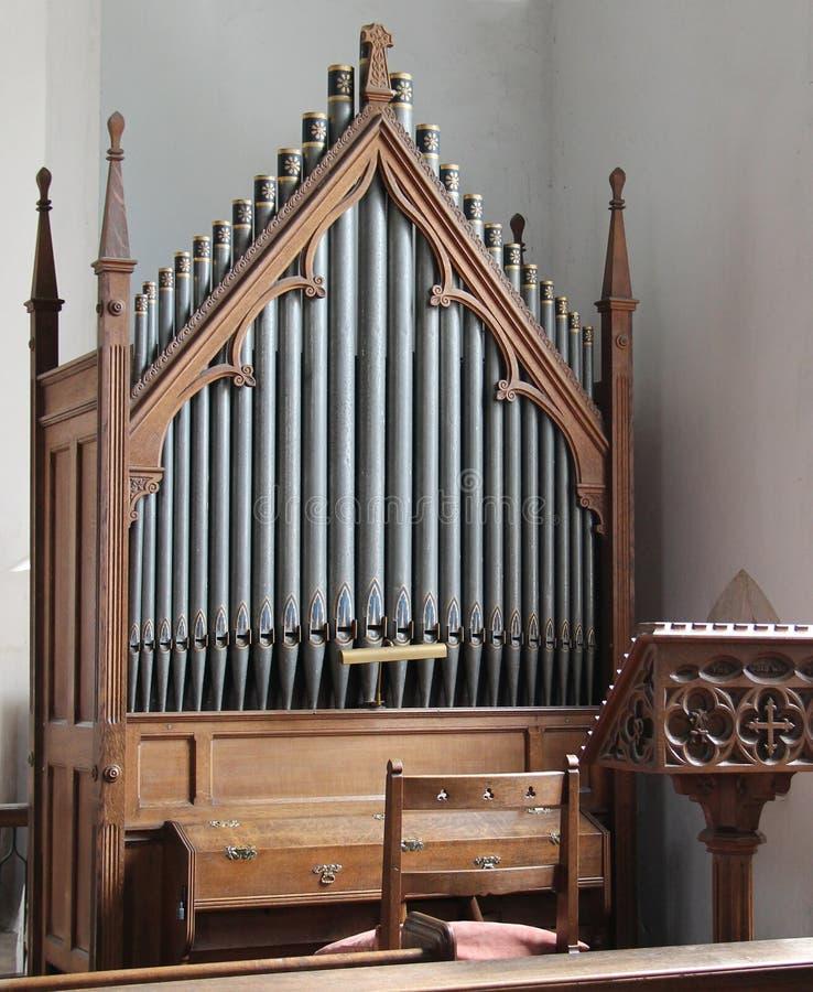 Church Organ. stock photo