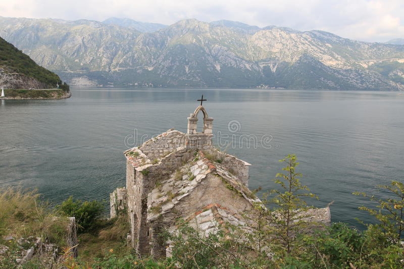 Church of Our Lady of Angels. Bay of Kotor Montenegro stock photography