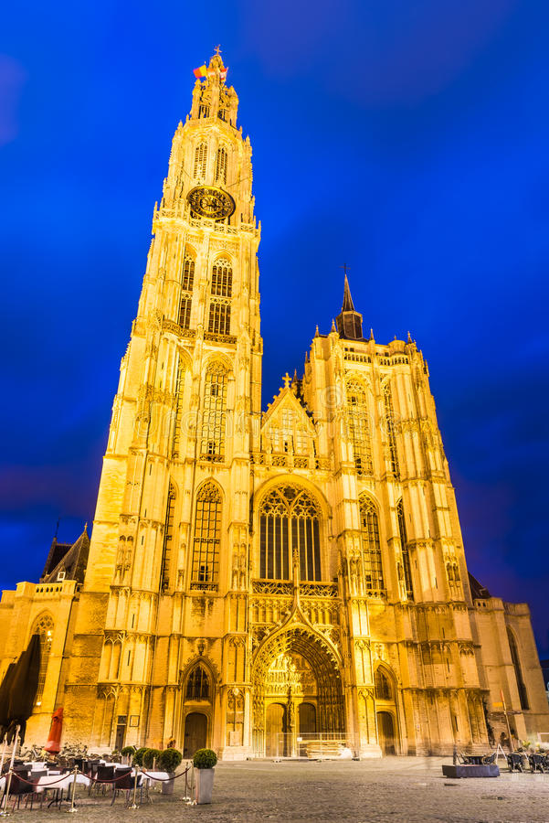 Church of Our Lady, Antwerp, Belgium royalty free stock photo