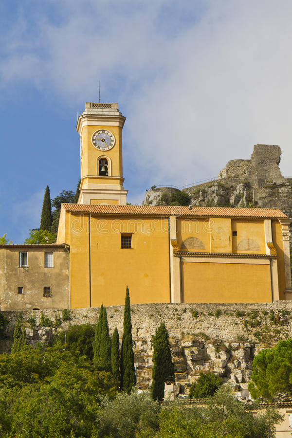 Church Our Lady of Assumption, Eze, France stock photography