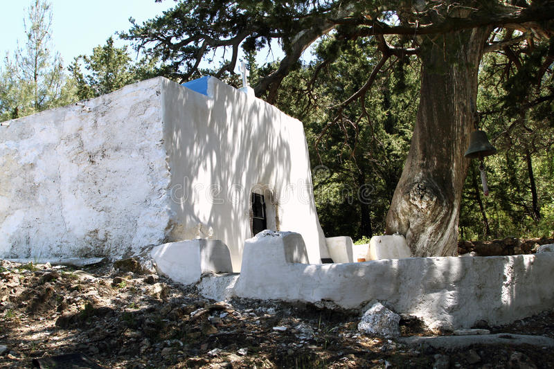 Church of Our Lady of Cypress Melissina Zia in the village of. Zia. Kos stock photos
