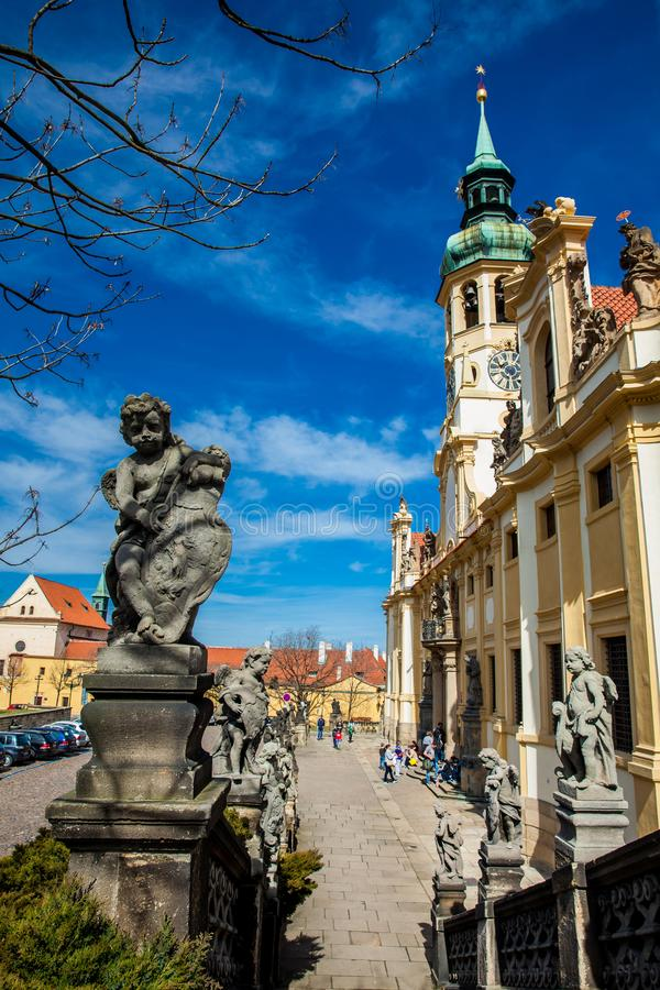 The Church of Our Lady of Loreto in Prague stock photography