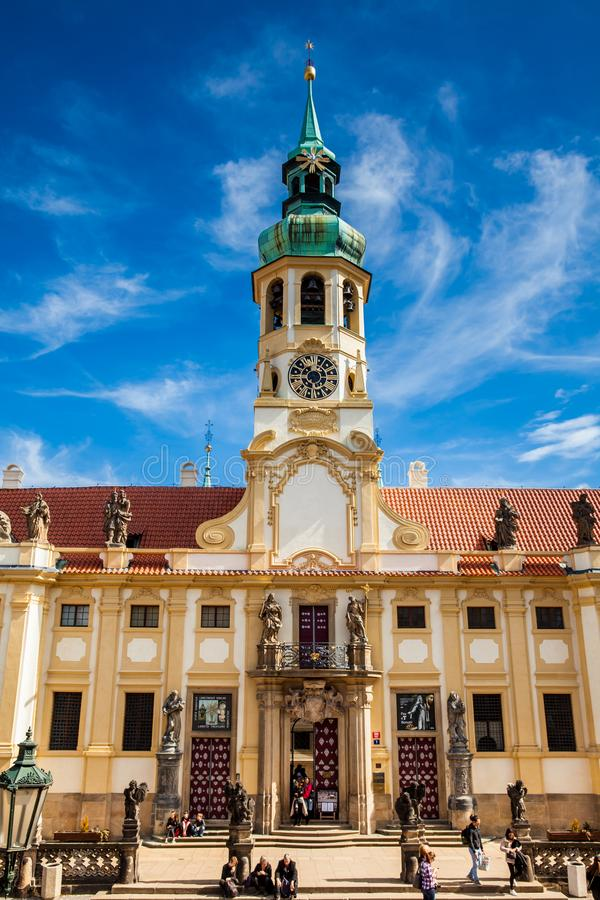 The Church of Our Lady of Loreto in Prague royalty free stock photo