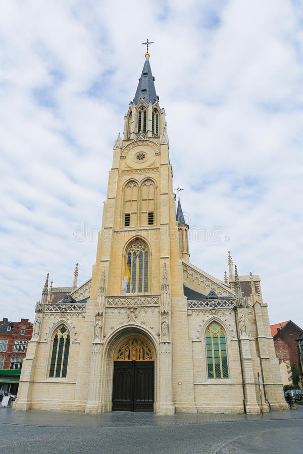 Church of Our Lady in Sint-Truiden, Belgium. Church of Our Lady on the central market square of Sint-Truiden, Limburg, Belgium royalty free stock photo