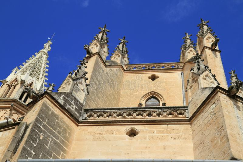 Church of our Lady of Sorrows in Manacor, Mallorca, Spain. Church of our Lady of Sorrows is found in the centre of Manacor, Mallorca, Spain royalty free stock images