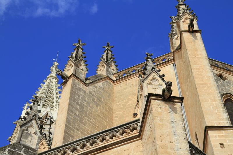 Church of our Lady of Sorrows in Manacor, Mallorca, Spain. Church of our Lady of Sorrows is found in the centre of Manacor, Mallorca, Spain stock photo