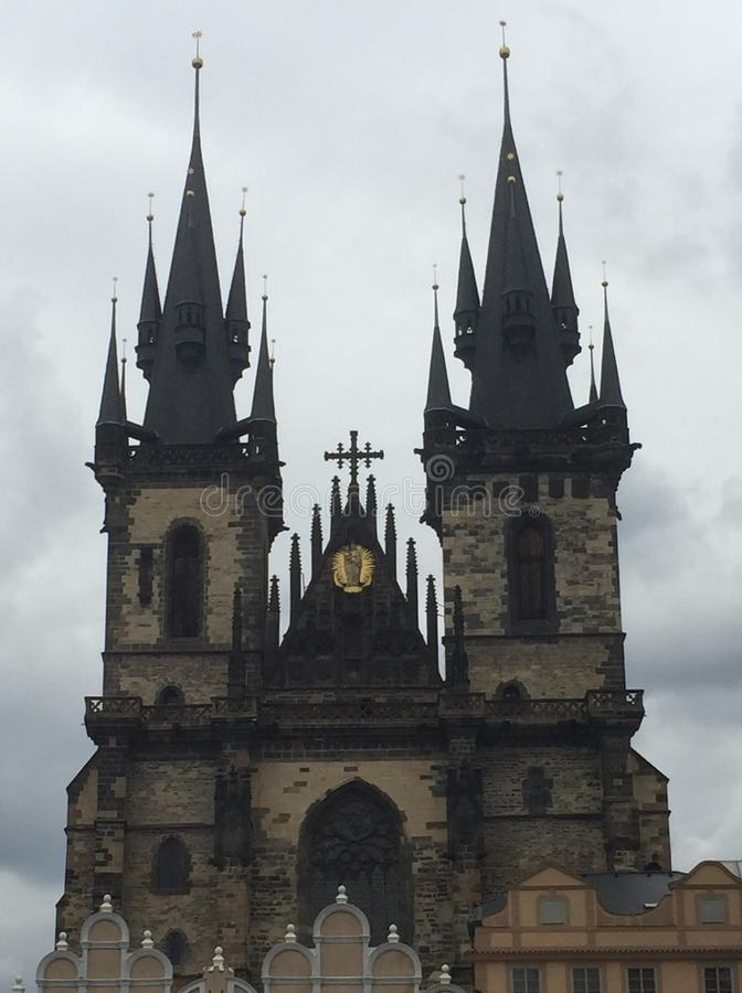 Church of Our Lady before Týn stock images