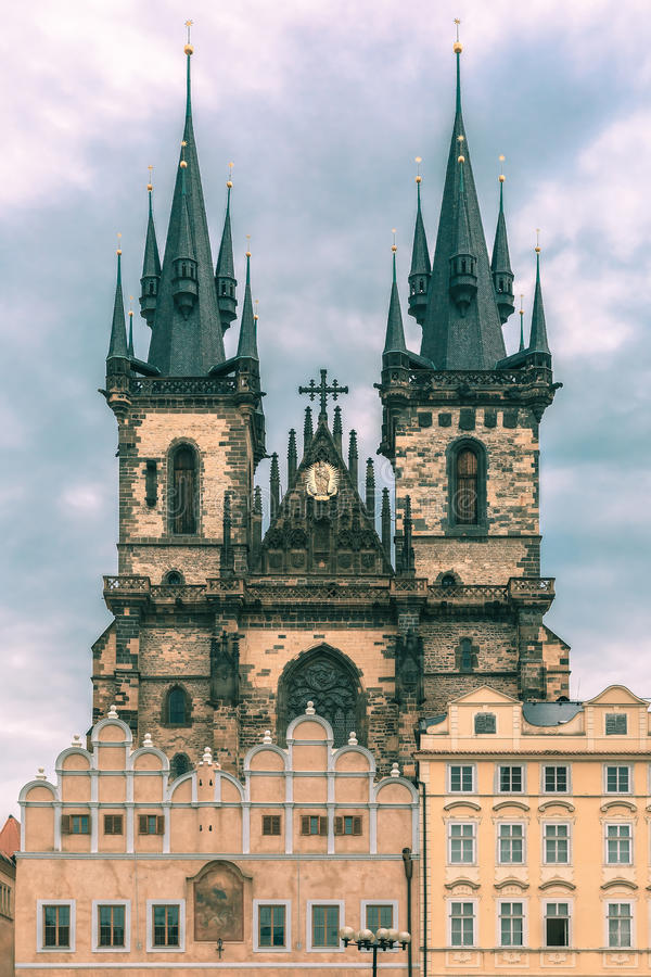 Church of Our Lady before Tyn in Prague, Czechia royalty free stock images