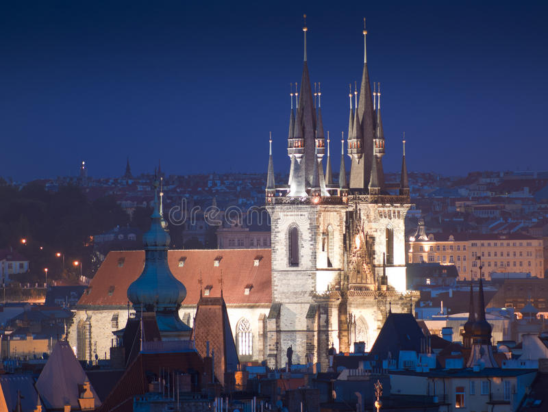 Church of Our Lady Tyn, Prague royalty free stock photography