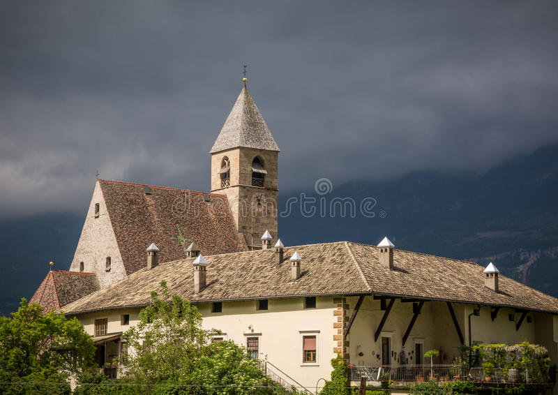 Church of Our Lady of Villa, one of the finest late Gothic churches in Tyrol. Ena, Bolzano, southTyrol royalty free stock photography