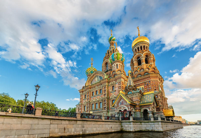 Church of Our Savior on Spilled Blood stock photo