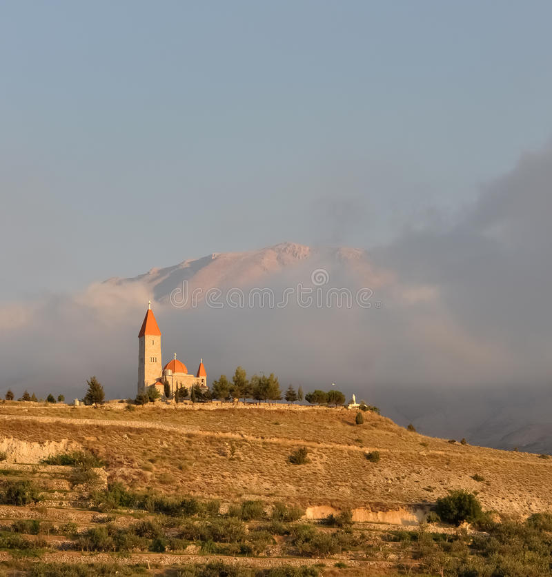 Download A Church Over The Hill Stock Photos - Image: 26386713