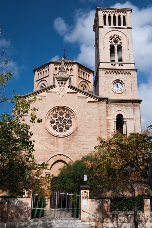 Church in Palma de Majorca stock photo