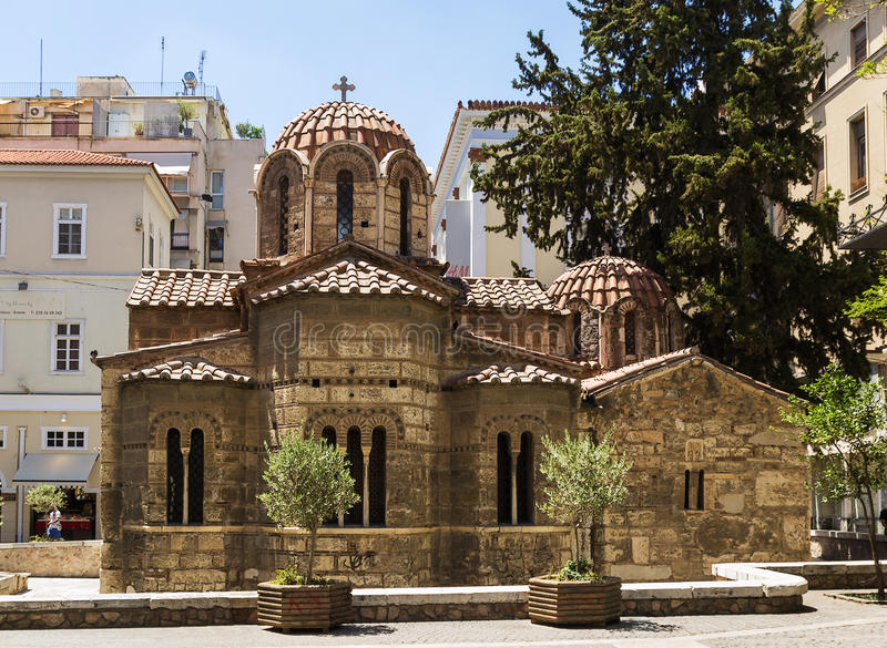 Church of Panaghia Kapnikarea, Athens stock photography