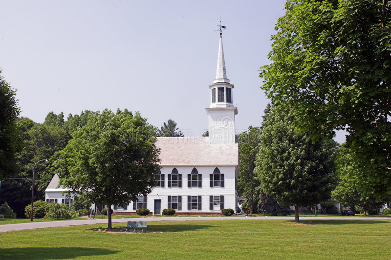 Download Church in Park stock image. Image of christian, town, steeple - 161267