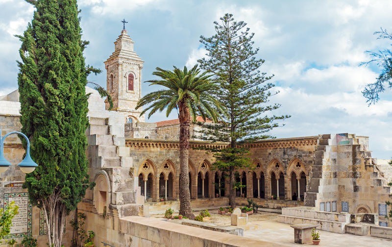 Church of the Pater Noster, Mount of Olives, Jerusalem royalty free stock images