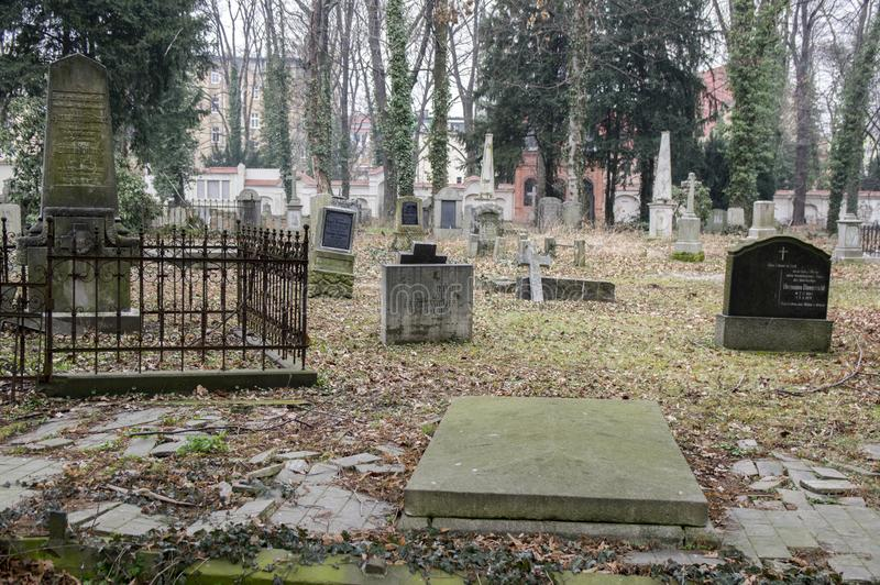 Church of Peace wooden heritage in Swidnica in Poland. Church of Peace, Swidnica / POLAND - March 31, 2018: Old graveyard around the church of Peace in Swidnica royalty free stock photos