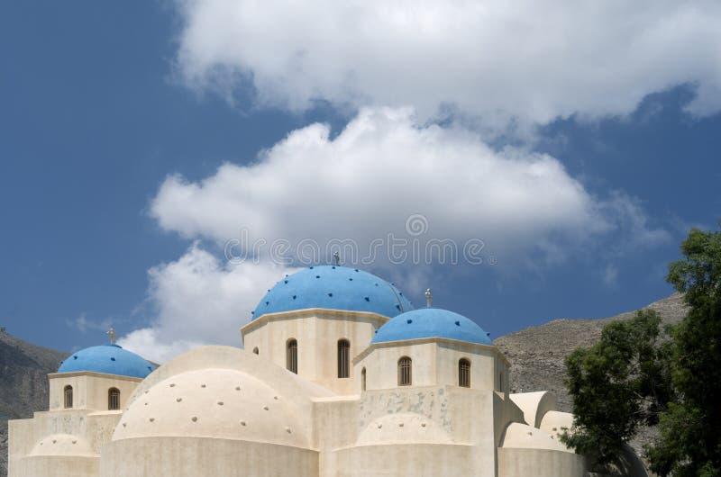Church in Perissa. royalty free stock image