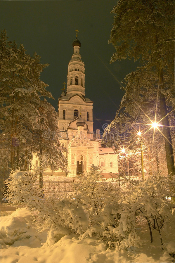 Download Church in Petersburg stock image. Image of bushes, trees - 456773